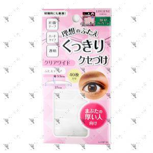 100Yen Double Eyelid Tape 40s Clear Wide