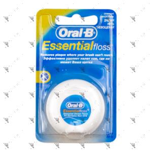 Oral-B Essential Floss Unwaxed Dental Floss 50m