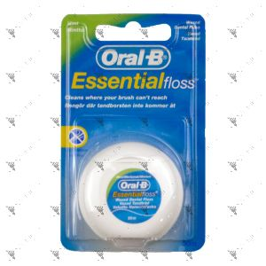Oral-B Essential Floss Mint Waxed Dental Floss 50m