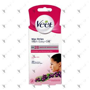 Veet Face Wax Strips 20s Normal Skin
