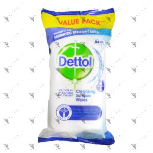 Dettol Anti-Bacterial Cleansing Surface Wipes 84 Sheets
