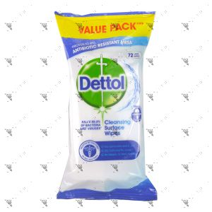 Dettol Anti Bacterial Cleansing Surface Wipes 72s