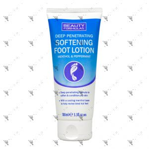Beauty Formulas Softening Foot Lotion 100ml with Menthol & Peppermint