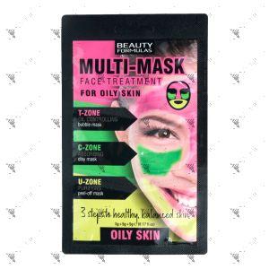 Beauty Formulas Multi-Mask For Oily Skin 15g