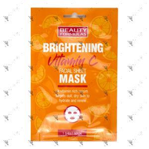 Beauty Formulas Vitamin C Facial Sheet mask 1s