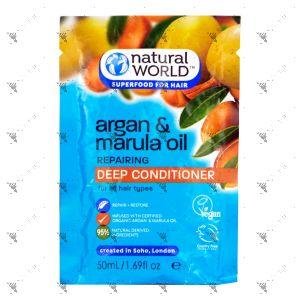 Natural World Argan & Marula Oil Repairing Deep Conditioner 50ml
