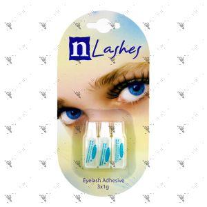N Lashes Eyelash Adhesive Clear 3x1g Pack For Strip Lashes