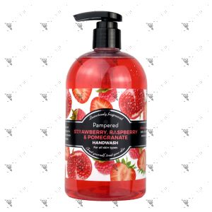 Pampered Handwash 500ml Strawberry, Raspberry & Pomegranate