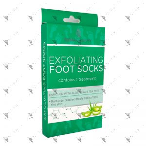 Skin Academy Exfoliating Foot Socks 1 Pair W/Aloe Vera & Tea Tree