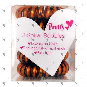 Pretty Metallic 5 Spiral Hair Bobbles
