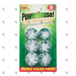 All About Home Powerhouse Hygienic Toilet Blocks 6pcs x 50g Green