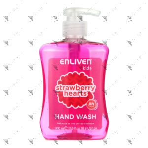 Enliven Kids Anti-Bacterial Handwash 500ml Strawberry Hearts