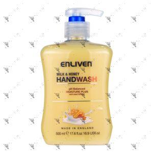 Enliven Kids Anti-Bacterial Handwash 500ml Milk & Honey