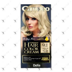 Cameleo Perm Hair Colour Cream 9.1 Ultimate Ash Blond