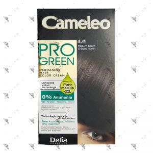 Cameleo Pro-Green Perm Hair Colour 4.0 Medium Brown