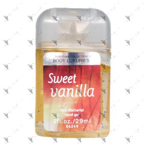 Signature Collection Body Luxuries Anti-Bacterial Hand Gel 29ml Sweet Vanilla