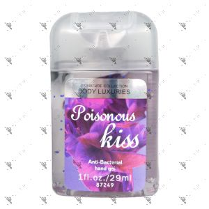Signature Collection Body Luxuries Anti-Bacterial Hand Gel 29ml Poisonous Kiss