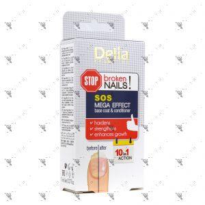 Delia Nails SOS Mega Effect 10 in 1 Base Coat & Conditioner 11ml