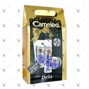 Cameleo Silver Shampoo Anti-Yellow Effect 250ml + Conditioner 200ml + Serum 55ml