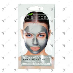 Bielenda Silver Detox Cleansing Metallic Face Mask 8g