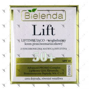 Bielenda LIFT Lifting and Smoothing Anti-Wrinkle Cream 50+ Day, SPF10 50ml