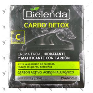 Bielenda Carbon Detox Moisturizing and Mattifying Carbon Face Cream 50ml