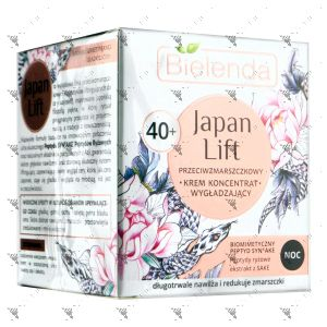 Bielenda Japan Lift Smoothing Anti-Wrinkle Face Cream Night 40+ 50ml
