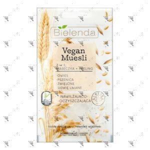 Bielenda Vegan Muesli 2in1 Moisturizing & Cleansing Face Mask+Scrub 8g