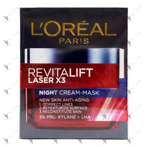 L'Oreal Revitalift Laser x3 Night Cream-Mask 50ml