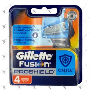 Gillette Fusion Proglide Chill Cartridge 4s