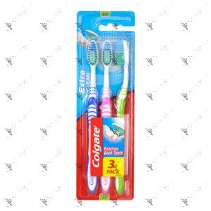 Colgate Toothbrush Extra Clean Medium 3s