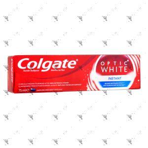 Colgate Toothpaste Optic White 75ml Instant