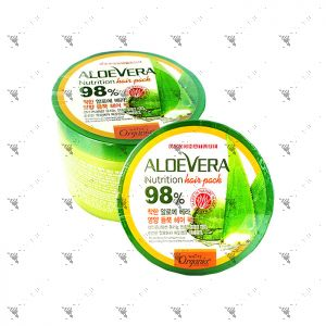 White Organia Aloe Vera 98% Hair Pack 500ml
