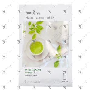 Innisfree My Real Squeeze Mask Ex Green Tea 1s