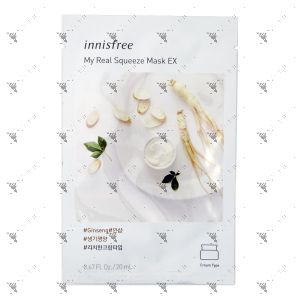 Innisfree My Real Squeeze Mask Ex Ginseng 1s
