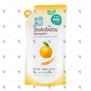 Shokubutsu Shower Cream 500ml Refill Orange Peel Oil