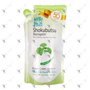 Shokubutsu Shower Cream 500ml Refill Ginkgo