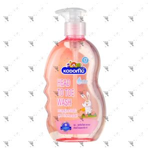 Kodomo Head to Toe Wash 0+ Hanabaki Pink 400ml