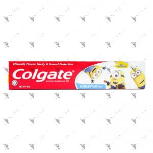 Colgate Toothpaste Kids Bubble Fruit Flavor 40g Minions