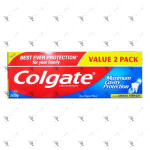 Colgate Toothpaste 2x225g Great Regular Flavour