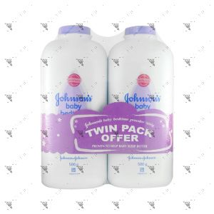 Johnson's Powder Twin Pack 500g Lavender