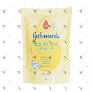 Johnson's Baby Top To Toe Wash 400ml Refill
