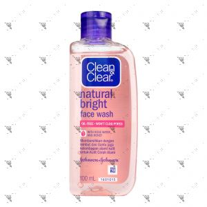 Clean & Clear Natural Bright Facial Wash 100ml With Rose Water & Honey