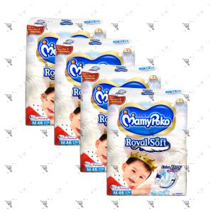 MamyPoko Royal Soft Tape Diaper Medium 46S (1Carton=4pack)
