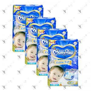 MamyPoko Extra Soft Tape Diaper Large 40S (1Carton=4pack)