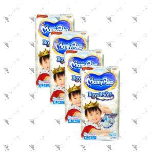 MamyPoko Royal Soft Tape Diaper XL 34S (1Carton=4pack)