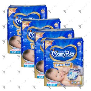 MamyPoko Extra Soft Tape Diaper Small 50S (1Carton=4pack)