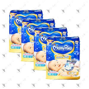 MamyPoko Extra Soft Tape Diaper Newborn 52S (1Carton=4pack)