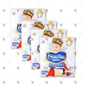 MamyPoko Royal Soft Pants (Boys) Medium 64S (1Carton=4pack)