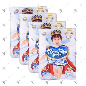 MamyPoko  Royal Soft Pants (Boys) Large 52S (1Carton=4pack)